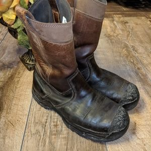 Danner Leather Work Slip on Boots Steel Toe sz 9.5